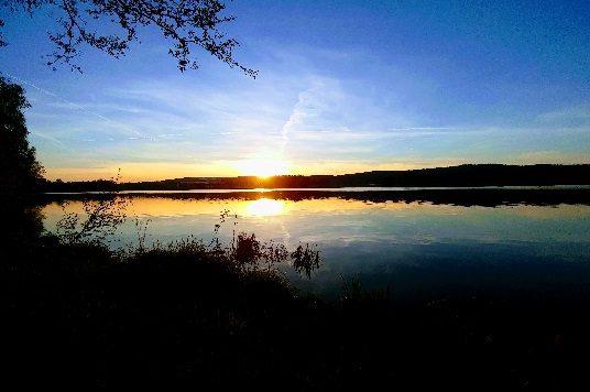 Sonnenunteragang Weißenstädter See Effect